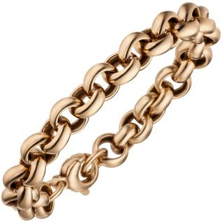 Erbsarmband 925 Sterling Silber rotgold vergoldet 21 cm Armband