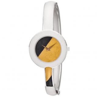 ARS Damen Armbanduhr Spangenuhr aus 925 Sterling Silber mit 750 Gold Gelbgold
