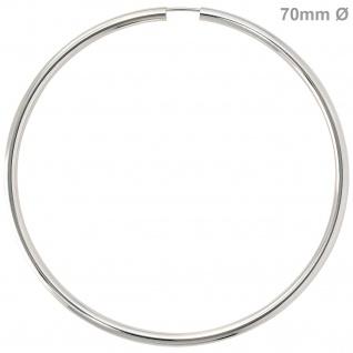 Creolen rund groß 925 Sterling Silber Ohrringe Durchmesser 70 mm
