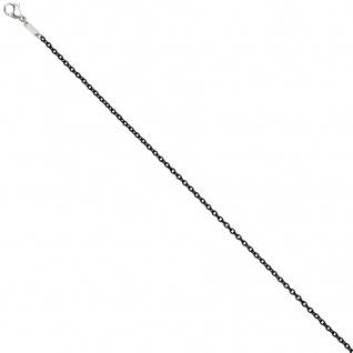 Rundankerkette Edelstahl schwarz lackiert 45 cm Kette Halskette Karabiner - Vorschau 3