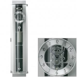 AMS 695 Regulateur Regulator mit Pendel silbern Pendeluhr mit Schiefer