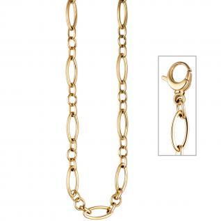 Collier / Halskette aus Edelstahl gold farben beschichtet 47 cm Kette