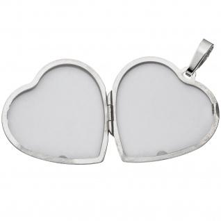 Medaillon Herz 925 Sterling Silber Perlmutt Einlage Anhänger zum Öffnen - Vorschau 3