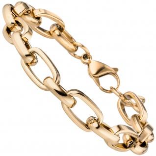 Armband Edelstahl gold-farben beschichtet 22 cm