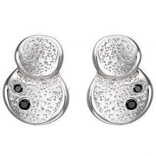Ohrstecker 925 Sterling Silber 4 Zirkonia Ohrringe Silberohrringe - Vorschau