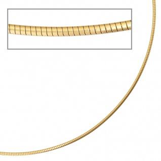 Halsreif 585 Gelbgold matt 1, 7 mm 42 cm Gold Kette Halskette Goldhalsreif