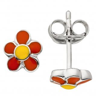 Kinder Ohrstecker Blume 925 Sterling Silber Ohrringe Kinderohrringe - Vorschau