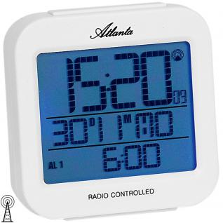 Atlanta 1809/0 Wecker Funk digital weiß Licht Datum Thermometer Digitalwecker