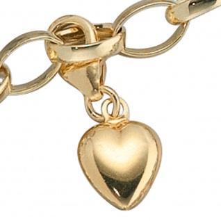 Einhänger Charm Herz 333 Gold Gelbgold Goldcharm Herzcharm