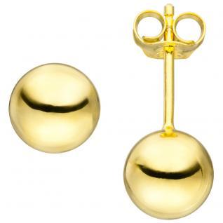 Ohrstecker Kugel 8mm 925 Sterling Silber gold vergoldet Ohrringe Kugelohrstecker