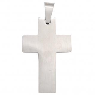 Anhänger Kreuz Edelstahl mattiert Kreuzanhänger Edelstahlkreuz