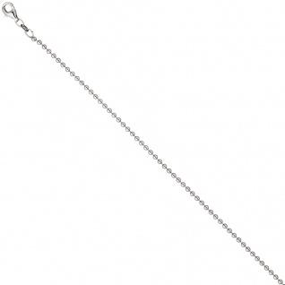 Kugelkette 925 Silber 2, 0 mm 50 cm Kette Halskette Silberkette Karabiner - Vorschau 4