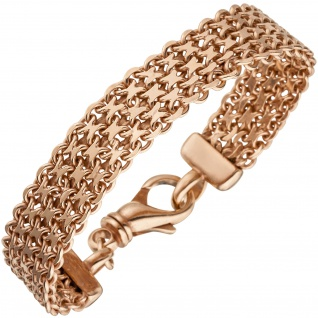 Armband 925 Sterling Silber rotgold vergoldet 20 cm