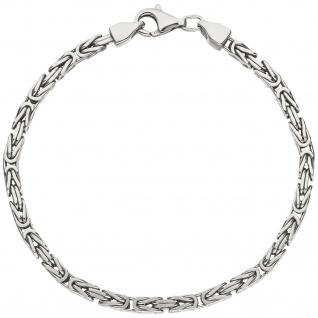 Königsarmband 925 Sterling Silber 19 cm Armband Silberarmband Karabiner - Vorschau 2