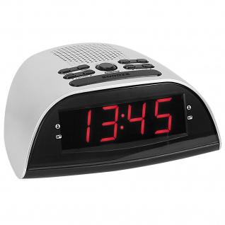 Atlanta 90119 Wecker Netzwecker Radiowecker digital silbern Snooze Digitalwecker