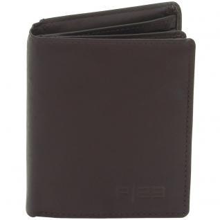 Friedrich Lederwaren Geldbörse Leder braun dunkelbraun RFID Schutz - Vorschau 2