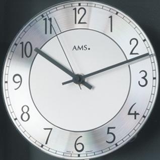 AMS 5285/11 Wanduhr Funk Funkwanduhr mit Pendel schwarz Pendeluhr mit Glas - Vorschau 2