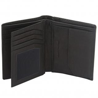 Friedrich Lederwaren Geldbörse Leder schwarz RFID Schutz