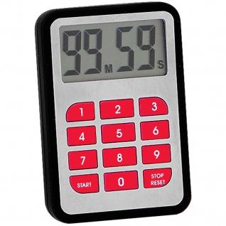 Atlanta 246/7 Kurzzeitmesser mit Magnet Kurzzeitwecker Küchen Timer schwarz rot