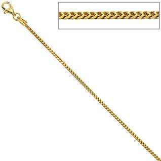 Bingokette 585 Gelbgold 1, 5 mm 42 cm Gold Kette Halskette Goldkette Karabiner