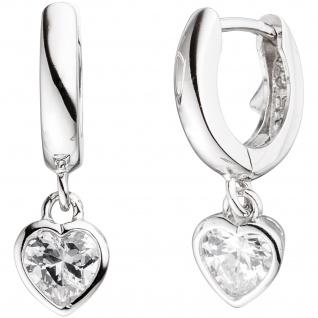 Kinder Schmuck-Set Herz 925 Silber mit Zirkonia Anhänger Ohrringe Kette 38 cm - Vorschau 3