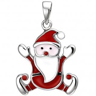 Kinder Anhänger Weihnachtsmann 925 Sterling Silber