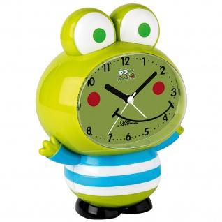 Atlanta 2161 Wecker für Kinder Kinderwecker FROSCH Quarz grün Froschwecker