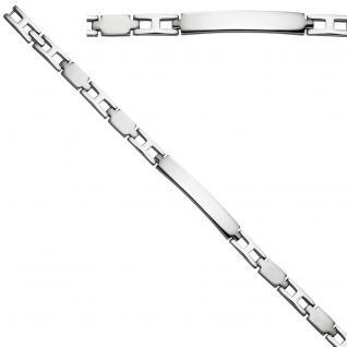 Schildband Edelstahl matt mattiert 20, 5 cm Gravur ID Armband