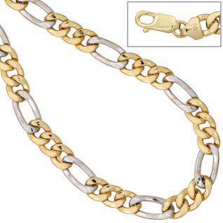 Figarokette 333 Gelbgold Weißgold bicolor 50 cm Gold Kette Halskette Goldkette