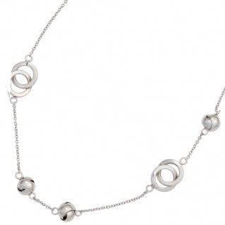 Collier Halskette 925 Sterling Silber rhodiniert 50 cm Kette Silberkette