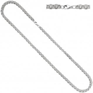 Zwillings-Ankerkette 925 Silber matt 4, 7 mm 45 cm Halskette Kette Karabiner