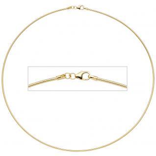 Halsreif 925 Sterling Silber gold vergoldet 1, 5 mm 50 cm Kette Halskette