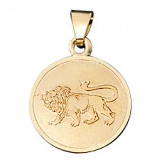 Anhänger Sternzeichen Löwe 333 Gold Gelbgold matt Sternzeichenanhänger
