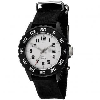 JOBO Kinder Armbanduhr Quarz Analog schwarz Kinderuhr mit Datum