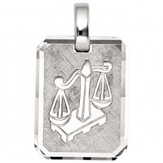 Anhänger Sternzeichen Waage 925 Sterling Silber matt Sternzeichenanhänger