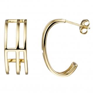 Halbcreolen 925 Silber gold vergoldet Ohrringe Creolen