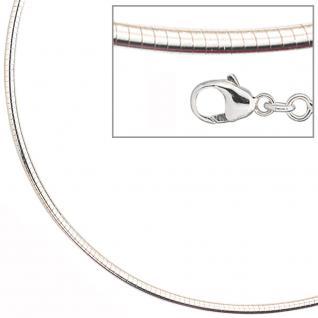 Halsreif 925 Sterling Silber 2, 8 mm 50 cm Kette Halskette Silberhalsreif