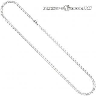 Halskette Kette 925 Sterling Silber rhodiniert 60 cm Silberkette Karabiner