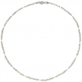 Halskette Kette Labradorit und Turmalin 43 cm