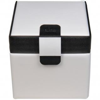 Sacher Schmuckkoffer Schmuckkasten schwarz weiß abschließbar mit Schloss - Vorschau 3