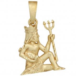 Anhänger Sternzeichen Wassermann 925 Sterling Silber gold vergoldet matt