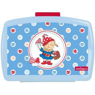 STEINBECK ZWERGE Kinder Brotdose mit Einsatz aus Kunststoff blau