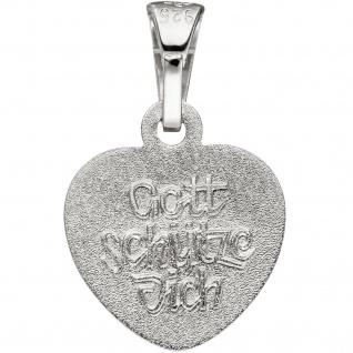 Anhänger Kleines Herz Herzchen Schutzengel 925 Sterling Silber mit Kette 38 cm - Vorschau 4