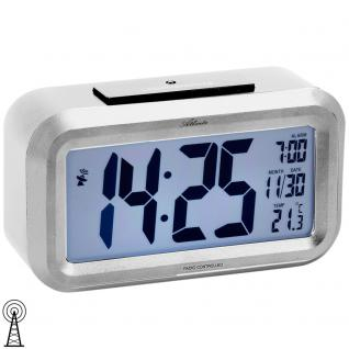 Atlanta 1870/19 Wecker Funk Funkwecker digital silbern mit Snooze Digitalwecker