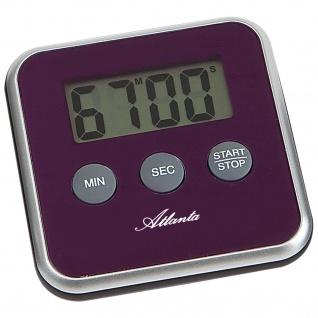Atlanta 239/8 Kurzzeitmesser Atlanta digital lila mit Magnet Küchen Timer