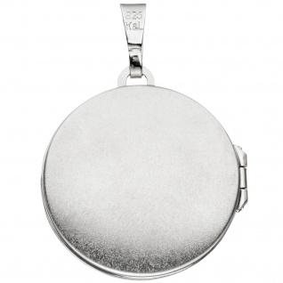Medaillon Blume des Lebens rund Anhänger zum Öffnen 925 Silber mit Kette 60 cm - Vorschau 3