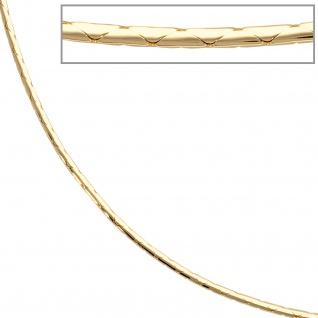 Halskette Kette 585 Gold Gelbgold 42 cm Goldkette Karabiner