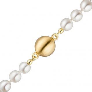 Magnet-Schließe 925 Silber gold vergoldet matt Verschluss für Perlenketten