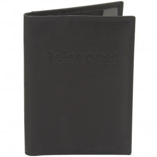 Friedrich Lederwaren Reisepass-Etui Pass-Etui Leder schwarz mit RFID Schutz