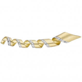 Anhänger 585 Gold Gelbgold matt 43 Diamanten Brillanten 0, 30ct. Diamantanhänger